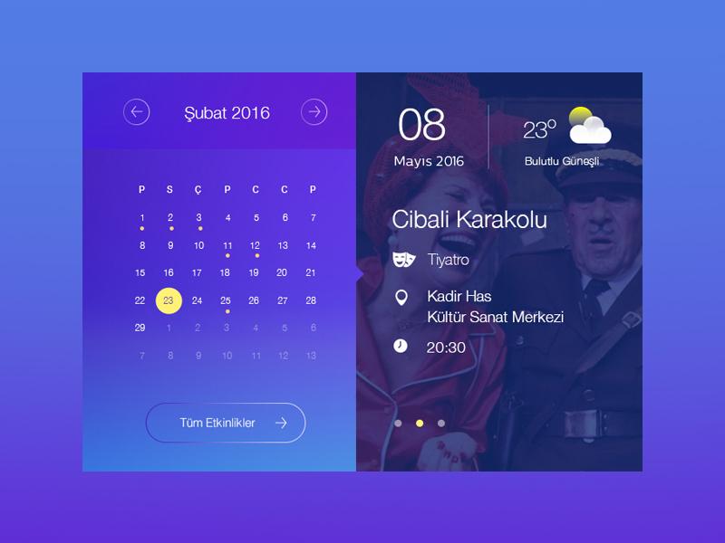 Event Calendar Ui Design : Calendar ui design by ilker kurtuldu dribbble