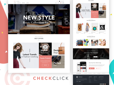Marketplace - Landing Page sketch website ux ui shop product page mobile landing interaction homepage ecommerce