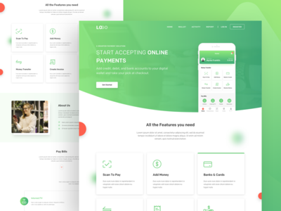 Payment App Landing Page