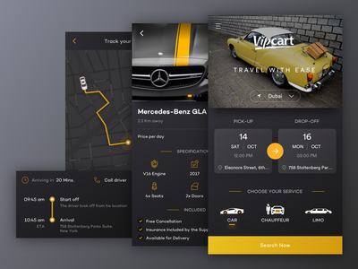Car Booking App car rental iphone ios interace user interface experience ui  ux booking app car app flat black ux clean app ui typography design