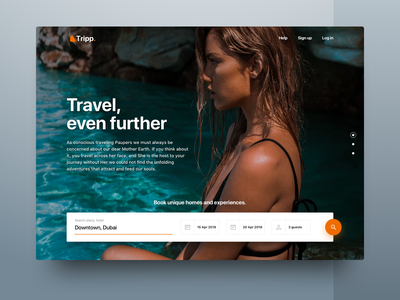 Travel Landing Page concept creative modern interface booking minmal inspiration web travel website landing ux clean ui typography design