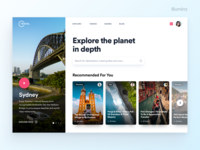 Travel Bloggers Website Concept
