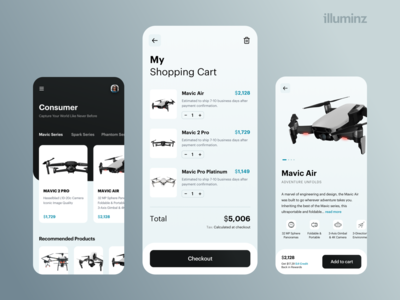 Drone Store App Concept