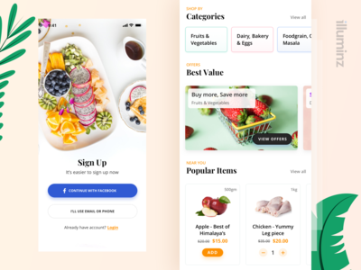 Grocery Shopping App Concept