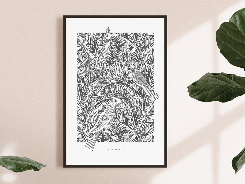 Poster Illustration - Product owner bird illustration decoration poster stationery illustration