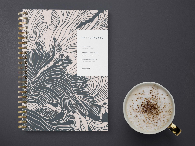 Notebook design notebook product design pattern design organizer design illustration surface design stationery