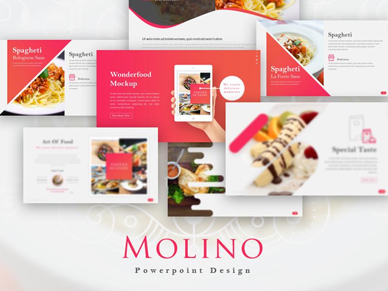 Molino Food Powerpoint Template By Galang Adhi Saputra Dribbble