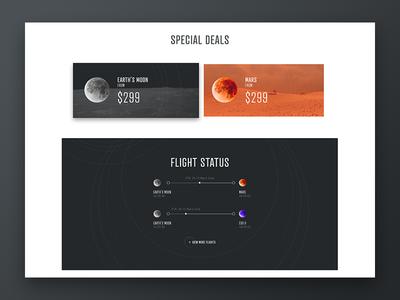 SPACED Challenge - Desktop home - Special deals & Flight status