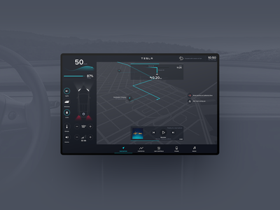 Throwback - Electric car interface