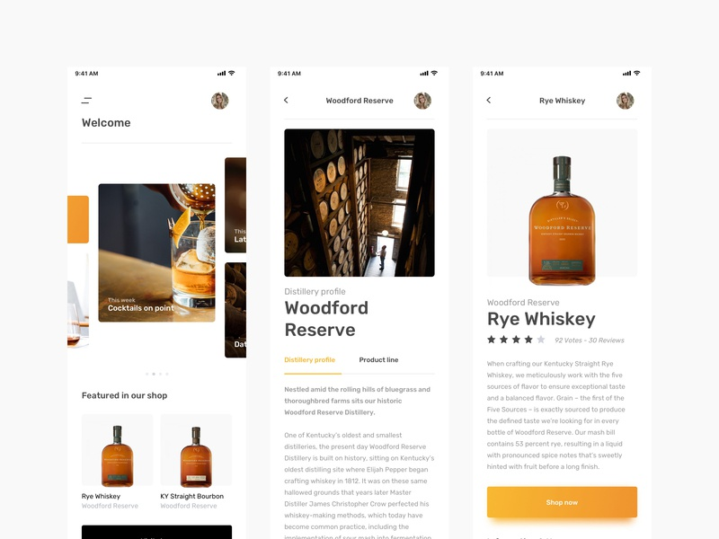 UI kit - Whisky app sketch whisky uikit