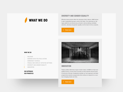 NIMD - What we do page