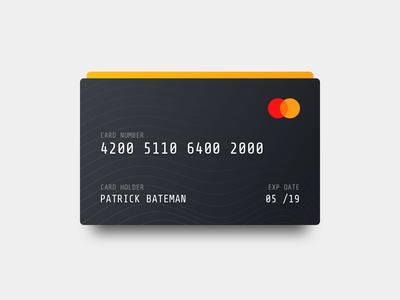 Hotel concept - Creditcard uikit asset payment creditcard concept
