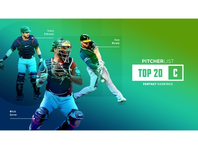 Graphic for the annual pre-season positional rankings at PL sports design fantasy baseball