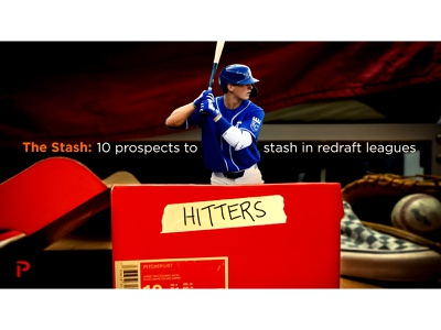 Graphic for Prospect Stash Article @pitcherlist royals mlb sports design fantasy baseball