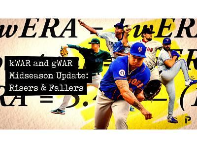 SP Midseason Update Graphic @pitcherlist sports design mlb fantasy baseball