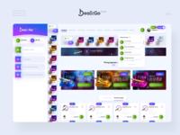 DealkGo — Warface community gray gradient violet blue ux ui design creative community wf dealk warface