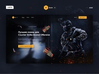 xZoom.io — Skin seller cs:go online platform shop branding logo website ui ux design web game yellow css csgo cs:go