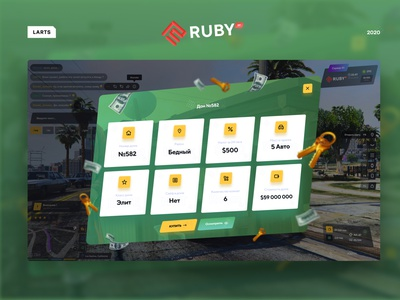 RUBY RP - Gta 5 inteface interaction samp csgo rp online games gta5 gta yellow green game ux ui design interface
