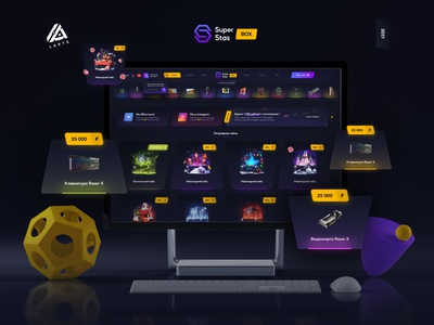 SuperStasBox - Design for gaming Open Case for real things. super superstatsbox cases case open cases yellow violet gamers rust dota2 standoff csgo gradient gamer games open case