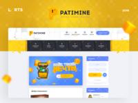 Patimine - Minecraft Game Design website templeate dle