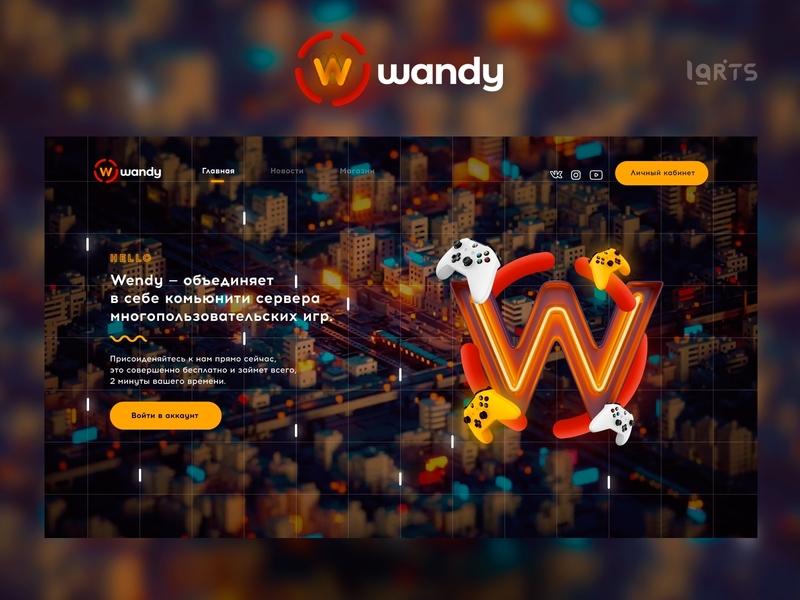Wandy — Game Community illustration web yellow branding website ui ux design logowork minecraft csgo community game
