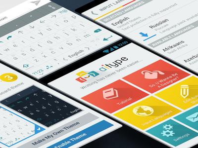 A.I.Type (Android) tutorial wizard kayboard flat application app android designer design mobile ux ui