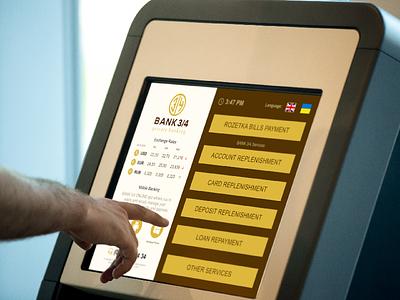 BANK 3/4 (Self-Service Terminal) ukraine interface dashboard bank banking self-service self service kiosk terminal