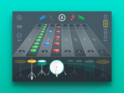 Drummar (Web App) drummer drums interface ukraine game application app web drum set drum education music