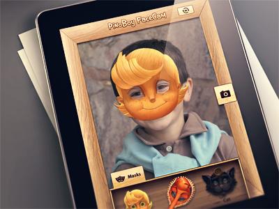 PinoBoy FaceCam ios app ipad interface ios app ios design camera cam photo