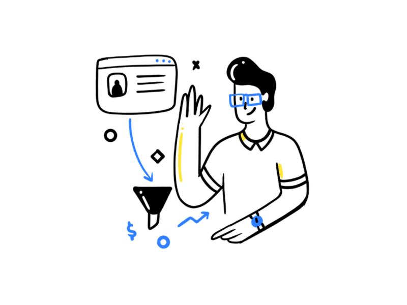Think Process Illustration Set branding design ipad character illustration