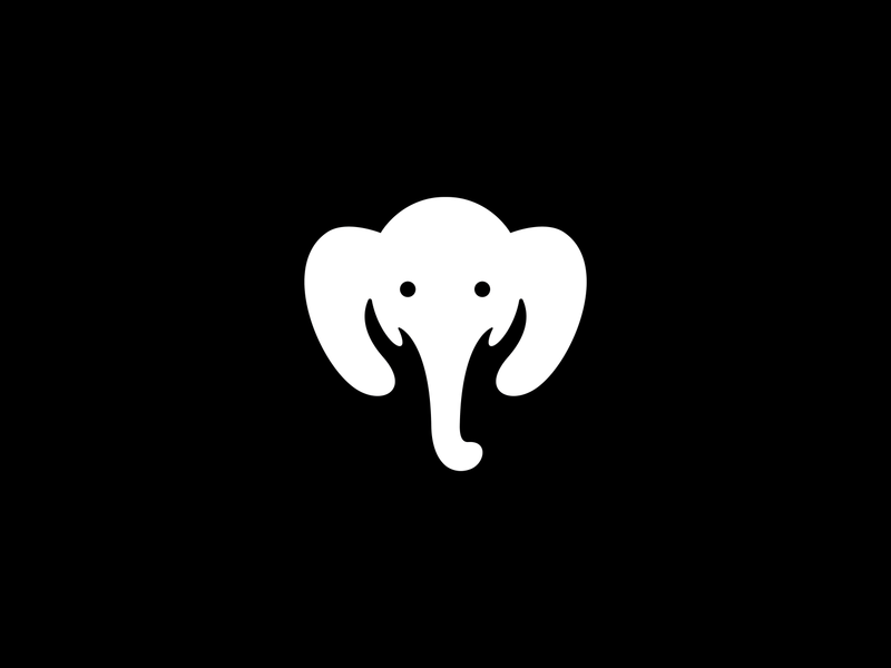 Save Elephant sunny-thecruze negative space logo hand logo elephant logo elephant