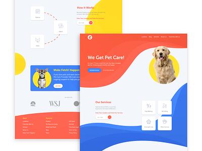 Pet Care Landinng | Freebie uiux concept sunny-thecruze pet care care landingpage pet dog ui design freebie ui
