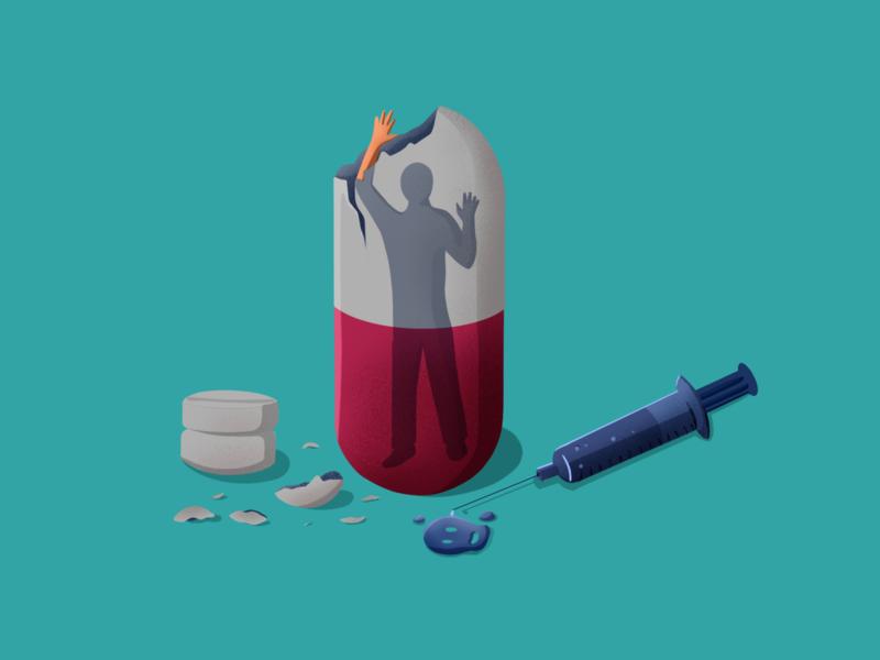 Drug Addiction brush sunny-thecruze design ipad procreate character illustration drugs addiction