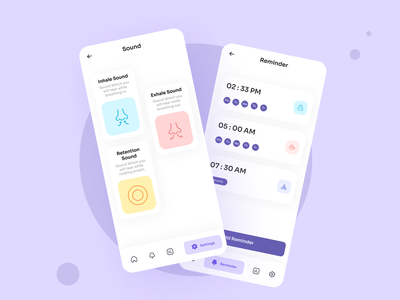 Meditation Sound and Reminder ios app uidesign ios meditation app meditation meditate uiux ui sunny-thecruze