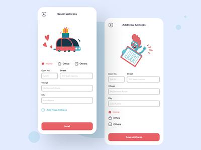 Kids Clothe Address address iosdesign ios mobile app design sunny-thecruze mobile app uiux ui mobile