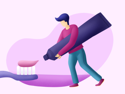 Brushing Teeth - ( 10/100 ) Daily Illustration Challenge