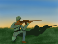 Soldier on duty- ( 17/100 ) Daily Illustration Challenge