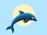 Dolphin - (29/100 ) Daily Illustration Challenge