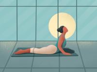 Yoga- (31/100 ) Daily Illustration Challenge