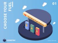 Creative fuel station - (33/100 ) Daily Illustration Challenge