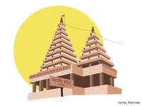 Indian Temple - (38/100 ) Daily Illustration Challenge