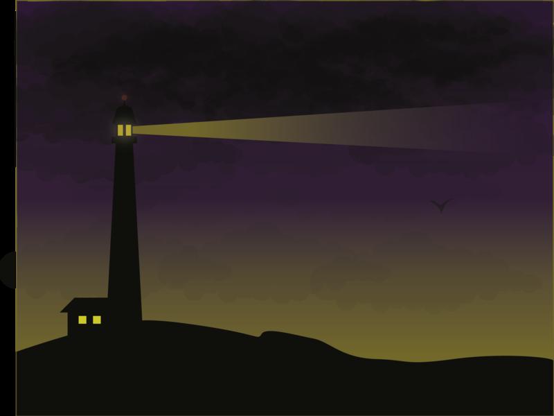 Lighthouse - (42/100 ) Daily Illustration Challenge illustrator vector design illustration