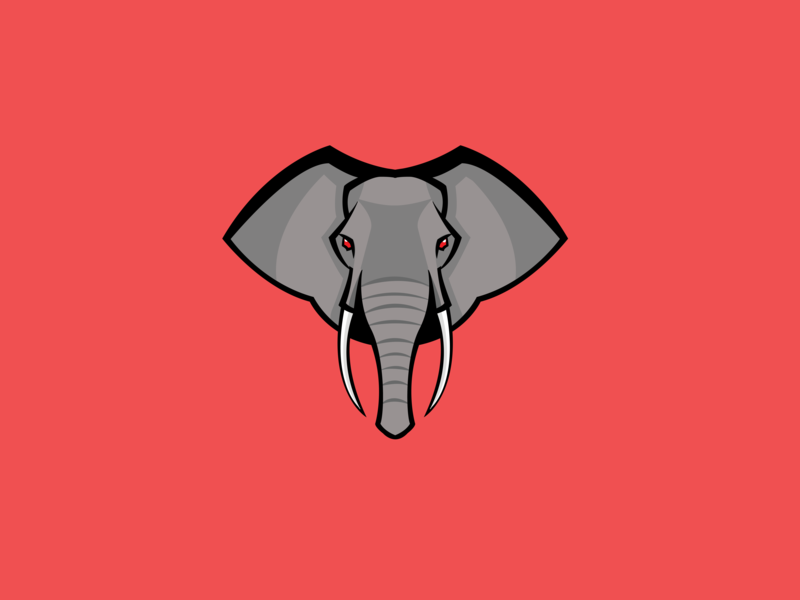 Elephant - (45/100 ) Daily Illustration Challenge elephant vector color sunny-thecruze design character illustration