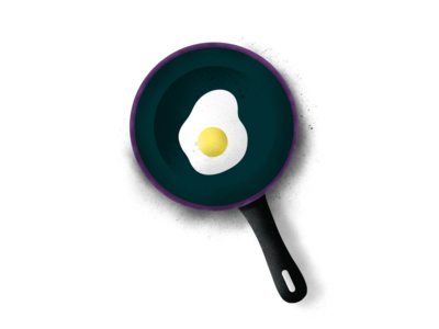 Fry Pan - (46/100 ) Daily Illustration Challenge
