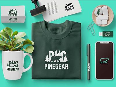 Pinegear.co Brand Identity mlb logo monogram athlete athlete branding sporting goods