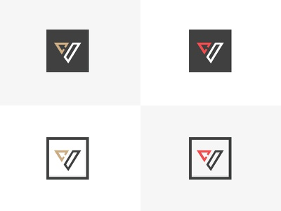 Creatitive Logo square creative brand c v logo sports monogram creatitive