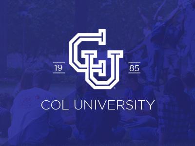 Col University logo creatitive monogram crest school college