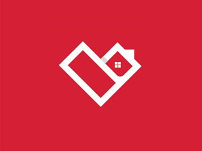 Amore Homes heart house logo real estate