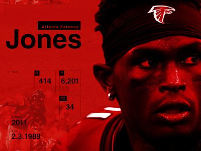 Julio Jones Stats Card print julio jones football nfl sports atlanta falcons