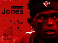Julio Jones Stats Card